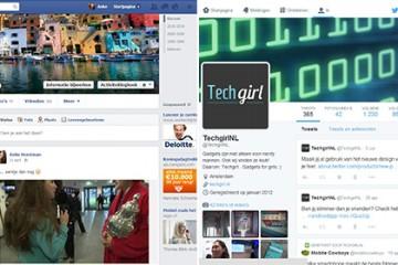 facebook en twitter profielpagina