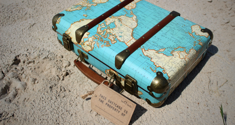 wereld reiskoffer