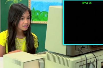 kinderen met oude computers