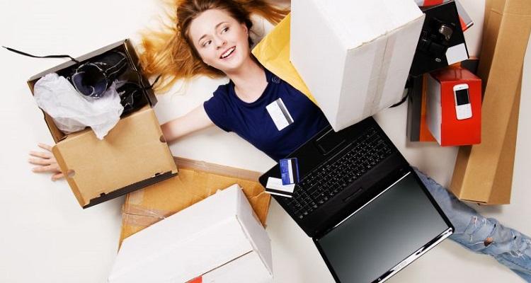 online aankopen in de feestmaand
