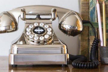 zilveren telefoon