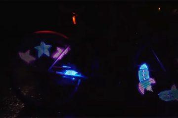 in het donker fietsen