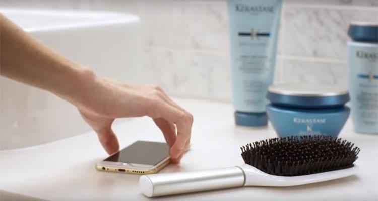 slimme haarborstel