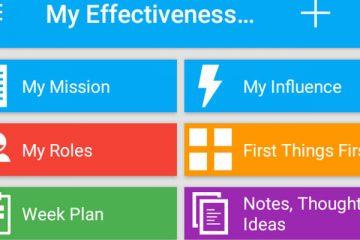 Screenshot My Effectiveness app