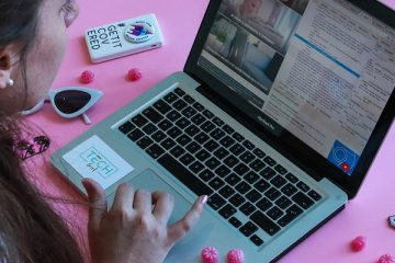Roze laptop