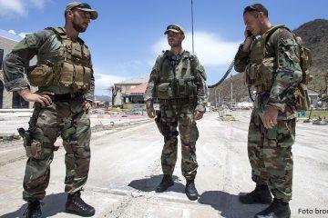 Militairen op Sint Maarten