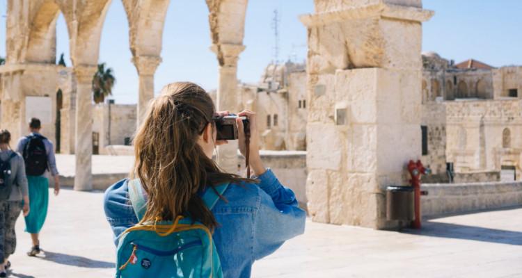 reizen vrouw camera