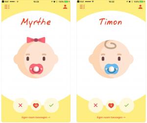 Babynamen app Zwitsal