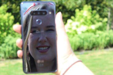 weerspiegeling smartphone