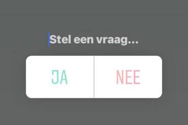 Instagram poll